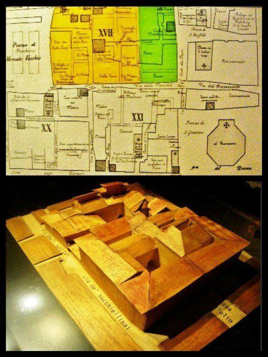 Ghetto di Firenze plastico e mappa