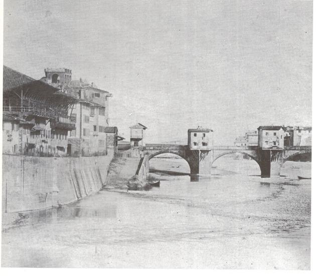 Il vecchio Tiratoio e il Ponte alle Grazie com'era una volta (Firenze scomparsa)